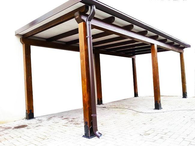 Tettoie in legno e ferro